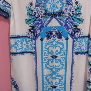 Dainty Hooligan Dresses - Dainty Hooligan Short Sleeve Blue Print Dress